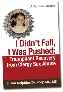 Book Cover - I Didn't Fall, I Was Pushed: Triumphant Recovery from Clergy Sex Abuse